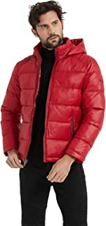 BINACL Men's Winter Jacket,Thicken Quilted Hooded Padded Down Alternative Puffer Coat(5 Color,XS-XXL)