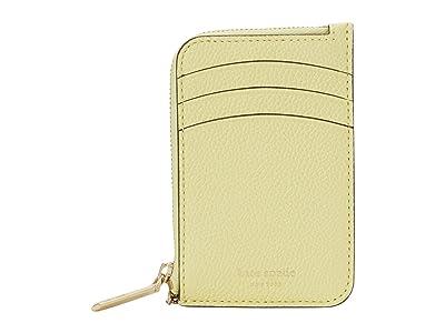 Kate Spade New York Margaux Zip Card Holder (Lemon Sorbet) Coin Purse