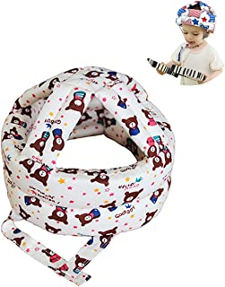 YOMYM Baby Head Protector Helmet Breathable Safety Head Guard Cushion with Adjustable Straps Protection Cap Harnesses Hat ...