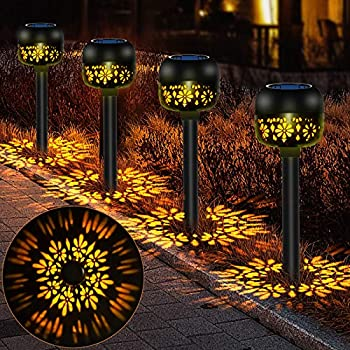 4-Pack Rabbitking Solar Powered Outdoor Pathway Lights