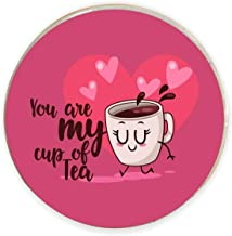 Yaya Cafe Valentine Gifts for Girlfriend Boyfriend Husband Wife Fridge Magnet You are My Cup of Tea Printed - Round
