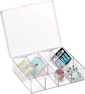 mDesign pot à crayons pratique pour articles de papeterie – rangement carré pour fournitures de bureau, stylos, etc. – ran...