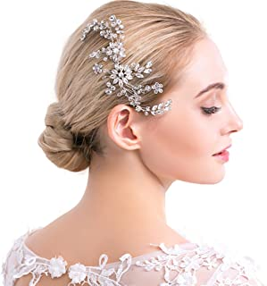Silver Rhinestone 新娘发梳水晶婚礼葡萄*头饰