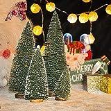 Bogoro 4 Mini Weihnachtsbaum Künstlicher, Mini Weihnachtsbäume Schneetanne, Mini Tannenbaum Christbaum mit Ständer Weihnachtsdeko Weihnachten Tischdeko Winterdeko Decoration - 5