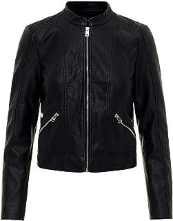 Vero Moda Vmkhloe Favo Faux Leather Jacket Noos Chaqueta para Mujer