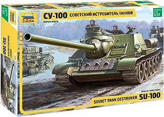 Zvezda 3688 500783688-1:35 SU-100 Soviet Tank Destroyer WWII - Juego de construcción de maquetas, construcción de Modelos, Hobby, Manualidades, Kit de Montaje de plástico, sin barnizar