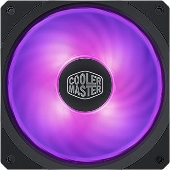 Cooler Master MasterFan SF120R RGB (MFX-B2DN-20NPC-R1): ventola PWM RGB da 120mm, cuscinetto ad alta scorrevolezza, design ibrido delle pale con bilanciamento del flusso d'aria, gestione dei cablaggi