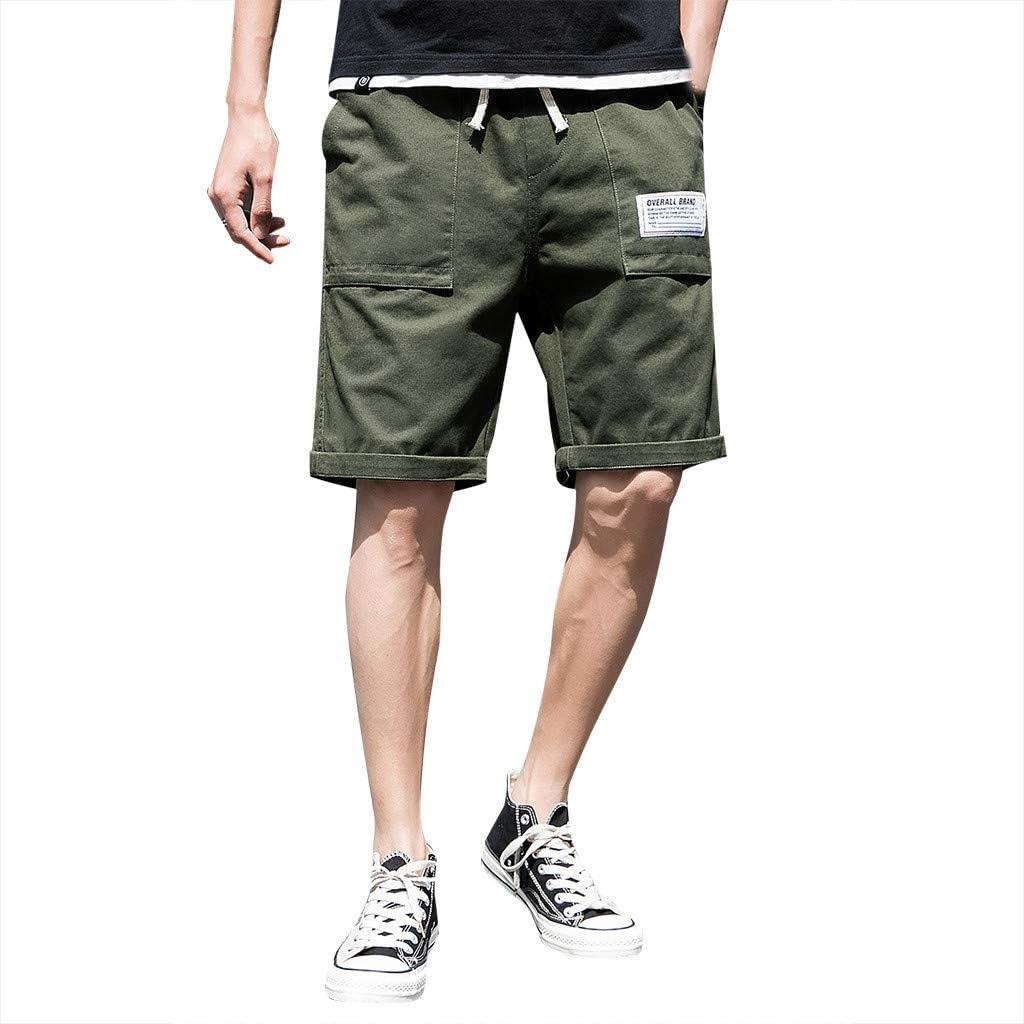 IHGTZS Shorts for Men, Men's Summer Leisure Camouflage Overalls Fashion Multi-Pocket Trousers