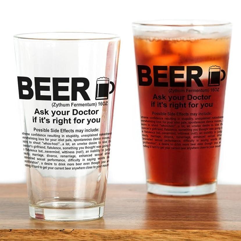 予言する中央値単なるCafePress?–?ビール、Ask Your Doctor If It 's Right?–?パイントガラス、16オンスDrinkingガラス クリア 162094585933332
