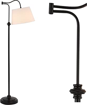 """JONATHAN Y JYL3083A Jason 68.5"""" Metal Traditional Swing Arm LED Floor Lamp, Oil Rubbed Bronze, for Bedroom Living Room Office Reading"""