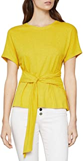 Women's Short Sleeve Waist Tie Top