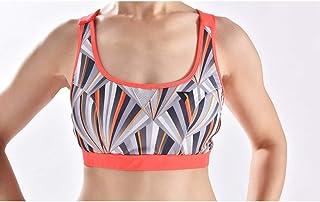 ZYDP Women Padded Sports Bra Yogo Bra Breathable Running Workout Bra Crop Tank Top (Color : Orange, Size : L)