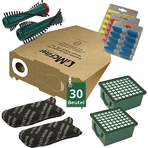 AVR-Handel 66 TLG Spar Angebot 30 Staubsaugerbeutel Filter Set Bürsten und Duft passend für Vorwerk Kobold VK 130, Kobold VK 131 und 131 SC