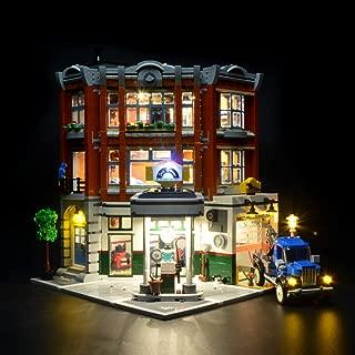 Briksmax Led Lighting Kit for Corner Garage- Compatible with Lego 10264 Building Blocks Model- Not Include The Lego Set