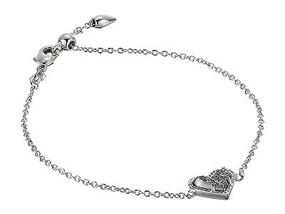 Kendra Scott Ari Heart Delicate Chain Bracelet (Rhodium Platinum Drusy) Bracelet
