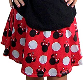 Disney Girls Classic Red Minnie Mouse Polka Dot Print Skort Skirt/Shorts