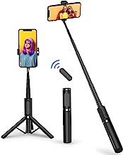 ATUMTEK Bluetooth Selfie Stick Tripod, Mini Extendable 3 in 1 Aluminum Selfie Stick with Wireless Remote and Tripod Stand ...