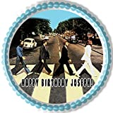 Beatles Abbey Road - Edible Cake Topper - 7.5' round