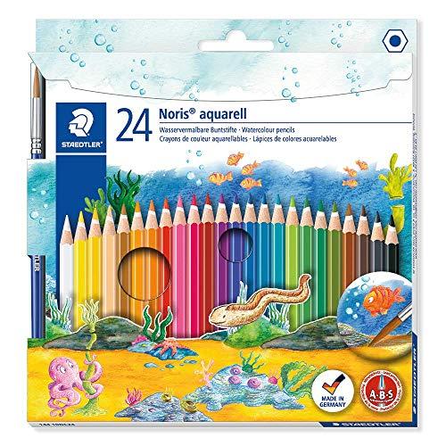 STAEDTLER- Noris Club aquarell 144 10 Estuche con 24 lápices, Multicolor 10NC24