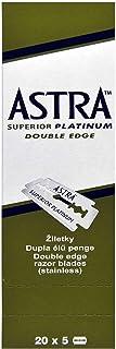 Astra Superior Platinum Double Edge Shaving Razor Blades 100 Pcs Barber Favored by Astra