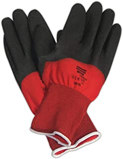 North by Honeywell NF11X/7S NorthFlex Red X PVC 3/4 Coated Glove, 7, Black (Pack of 12)