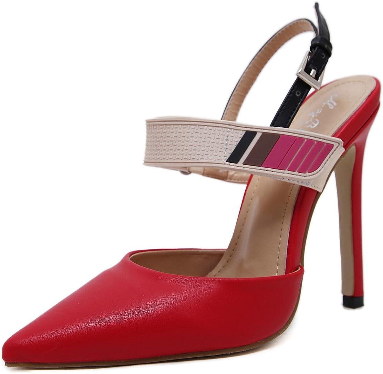 Damen High Heels Pumpe Tip flach Farbe Fight Gradient Farbe Schuhe weiblich