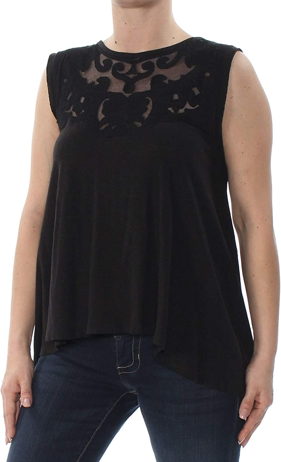 Free People Womens Meant to Be Embroidered Swing Tank Top