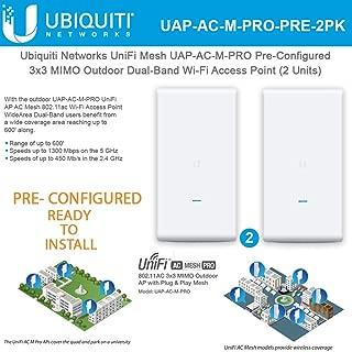 UniFi Mesh UAP-AC-M-PRO PRE-CONFIGURED 802.11ac Wireless Access Point 3x3 MIMO Outdoor Wi-Fi AP (2-Units)