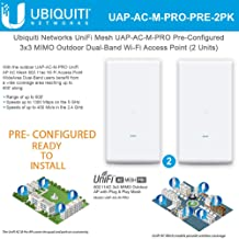 UniFi Mesh UAP-AC-M-PRO PRE-CONFIGURED 802.11ac Wireless Access Point 3x3 MIMO Outdoor Wi-Fi AP (2-Units)