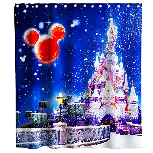 70 X 70 Inches qianliansheji Simple White Pretty Christmas Decorations Sign Merry Christmas Shower Curtain Home Bathroom Accessories Polyester Fabric Fashion Hook