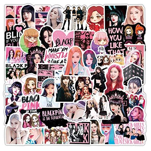 DONGJI Blackpink Girl Group Star Graffiti Sticker Maleta portátil Casco PVC 50pcs