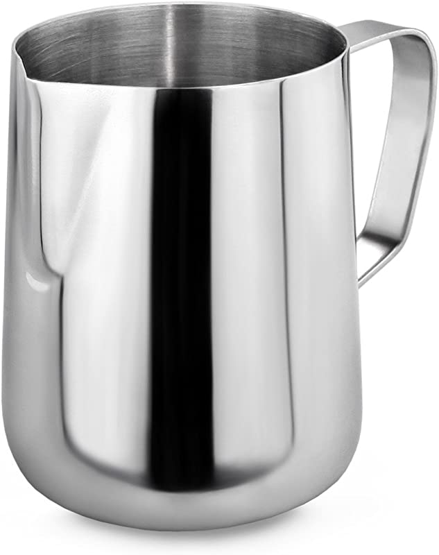New Star Foodservice 28805 Commercial Grade Stainless Steel 18 8 Frothing Pitcher 12 Ounce