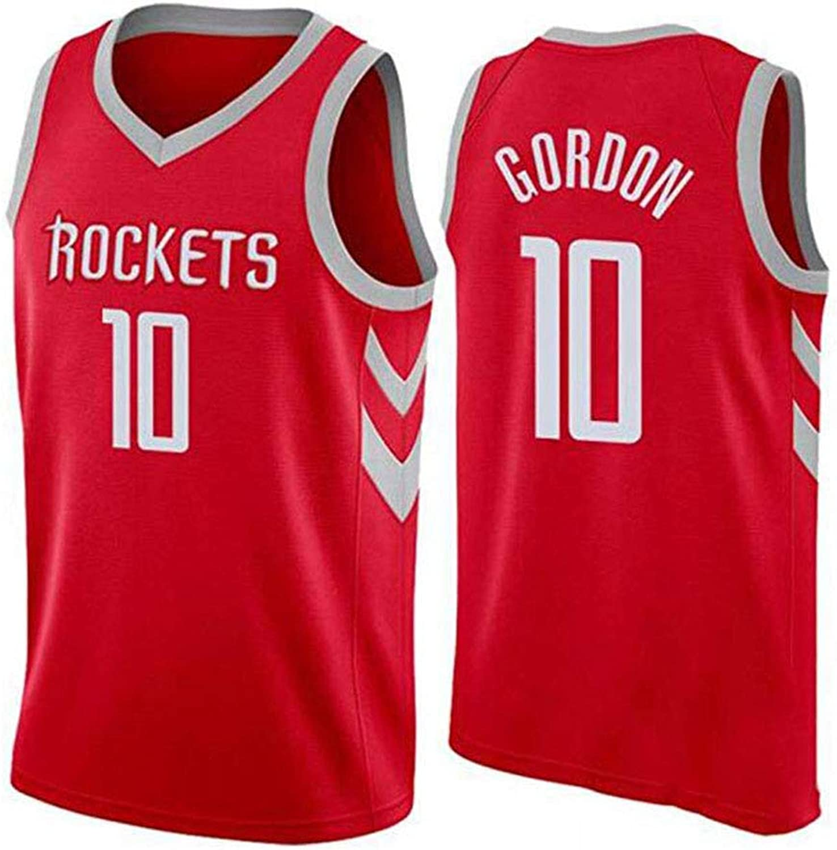 Eric Gordon   10 Herren Basketball Trikot - NBA Houston Rockets, New Fabric Embroiderot Jersey rmelloses Shirt