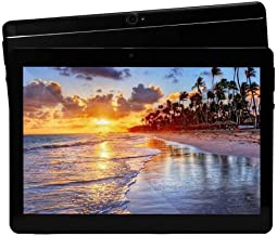 JUNLONG 10 inch Tablet Android Octa Core Tablet with 4GB RAM 64GB ROM Tablet PC Built in WiFi and Camera GPS Two Sim Card Slots Unlocked 3G Phone Call Phablet (Metal Black)