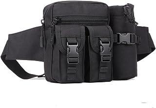 YuHan Hiking Waistpacks Outdoors Tactical Waist Pack Pouch Water Bottle Pocket Holder Molle Hip Belt Bag Black