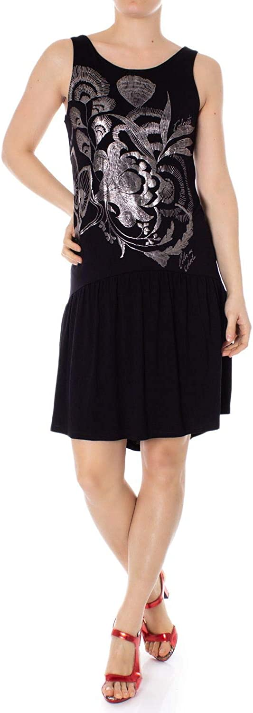 Desigual Women's 19SWVKASBLACK Black Viscose Dress