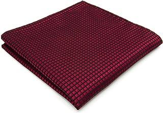 Shlax&Wing Boda Nuevo La Moda Hombre Seda Pañuelo De Bolsillo Para Rojo Color Sólido 12.6