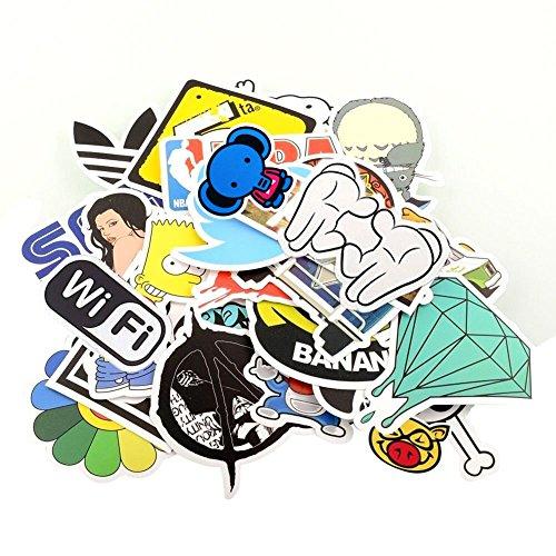 StillCool Aufkleber 200pcs für Skateboard Snowboard-Weinlese-Vinylaufkleber-Graffiti Laptop Gepäck Auto-Fahrrad-Decals mischen Lot Art- und Weisekühler (200pcs)