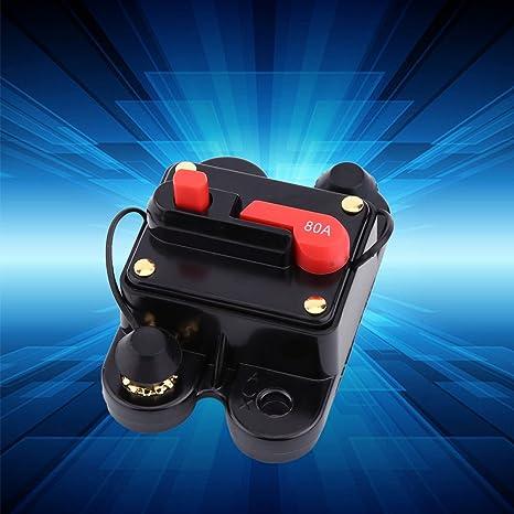 Akozon Leistungsschalter Reset Sicherung Dc12v Leistungsschalter Für Auto Marine Boat Bike Stereo Audio Reset Sicherung 80 300a Auto Marine Boat Bike Stereo Audio Reset Sicherung 300a Auto