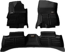 TuxMat Custom Car Floor Mats for Mitsubishi Lancer 2008-2018 Models- Laser Measured, Largest Coverage, Waterproof, All Weather.The BestMitsubishi Lancer Accessory. (Full Set - Black)