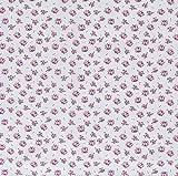 Stoff Meterware Baumwolle hellgrau rosa violett pink