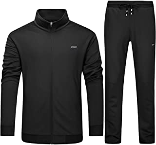 Mens Athletic Sweatsuit 2 Piece Tracksuit Casual Workout Sports Gym Jogging Sets Full Zip Jacket and Pants Set