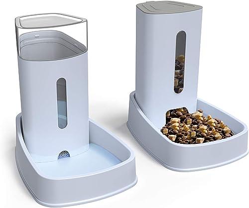 YGJT Distributeur croquettes/Eau Fontaine Automatique-3.8Lx 2 Pièces- Alimentation pour Chien/Chat/Croquettes Accesoi...