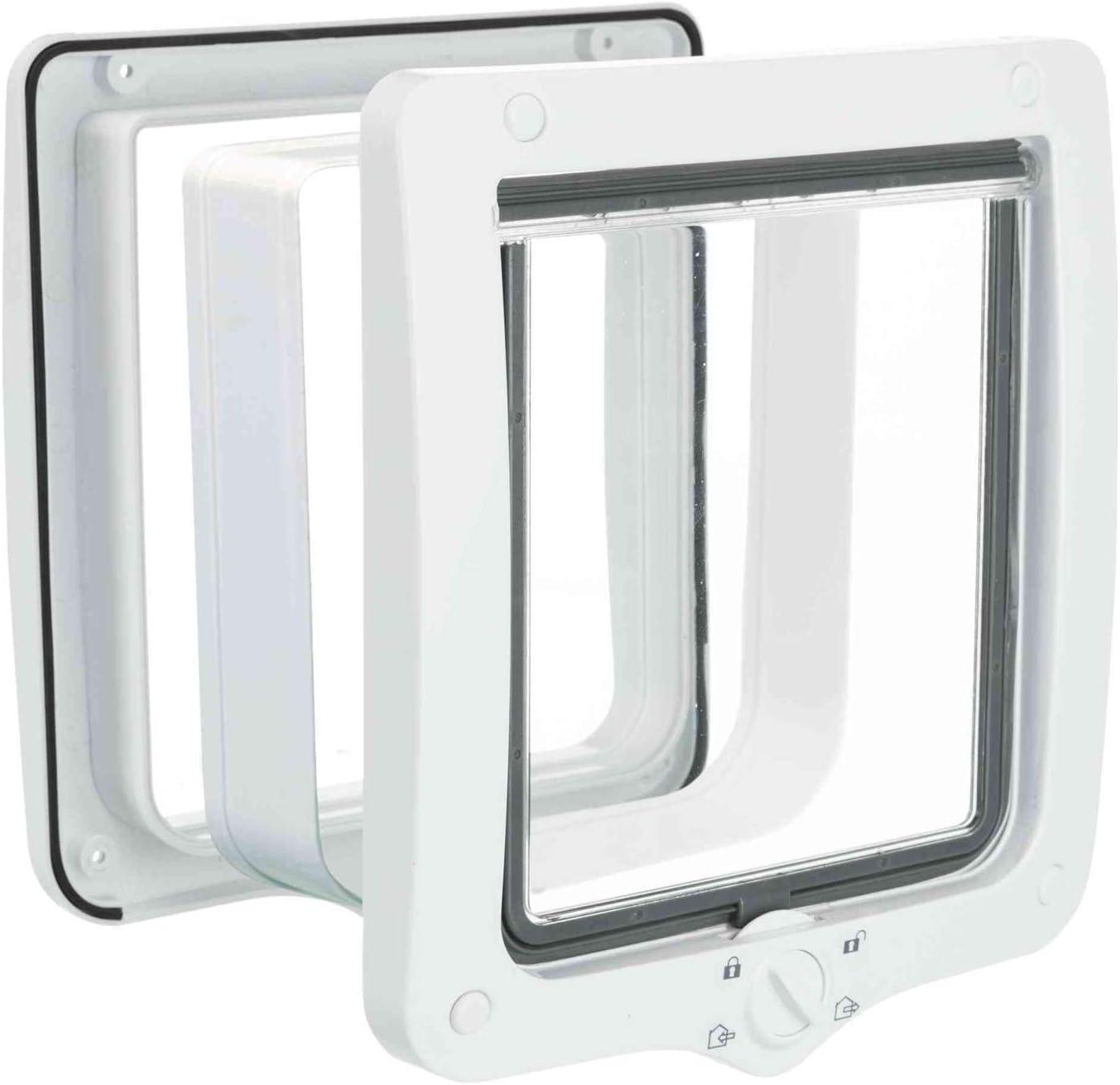 Trixie 4-Way Trampilla para gatos con túnel, blanco, 660 g, 24 × 28 cm