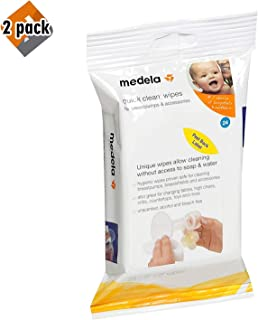 Medela Quick Clean Breast Pump and Accessory Wipes, 72 Wipes Total (3 Packs of 24), Convenient Portable Cleaning, Hygienic Wipes Safe for Cleaning High Chairs, Tables, Cribs and Countertops, 2 Pack