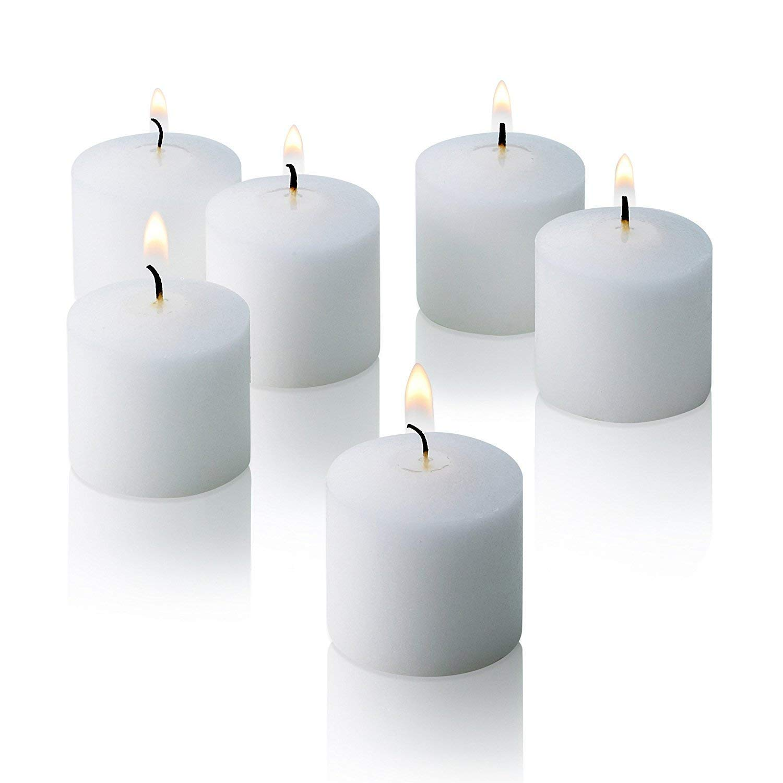 White Votive Candles Unscented Decorations