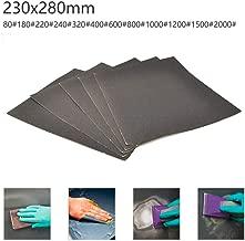 nero 20 fogli di carta vetrata impermeabile per levigare e lucidare carrozzerie auto POWERTOOL Confezione da 2