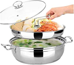 YYSM Steamer Pot Hot Pot Steam Pot 30cm Thick Stainless Steel Cooking Dual-purpose Induction Cooker Gas Stove Gas Stove Un...