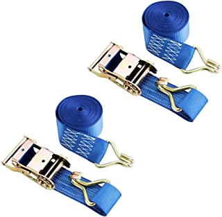 Car Truck Roof Rack Rachet Strap Set 4000Kg Breaking Strain Stable Reliable Performance For Securing Motorcycles 8M Tie Down Ratchet Straps 2000Kg Lashing Capacity Truck Cargo Etc Robust Atvs