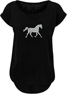 Frauen Damen Langarm Shirt Echte Freiheit nur auf einem Pferd Pferde longsleeve